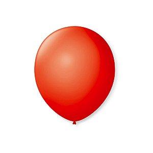 Balão de Festa Latex 7'' 18cm - Vermelho Quente - 50 unidades - São Roque - Rizzo Festas