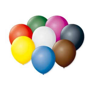 Balão de Festa Latex 7'' 18cm - Colorido Sortido - 50 unidades - São Roque - Rizzo Festas