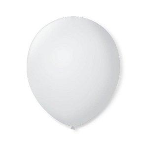 Balão de Festa Latex 9'' 23cm - Branco Polar - 50 unidades - São Roque - Rizzo Festas