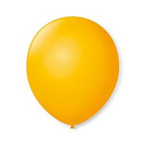 Balão de Festa Latex 9'' 23cm - Amarelo Sol - 50 unidades - São Roque - Rizzo Festas