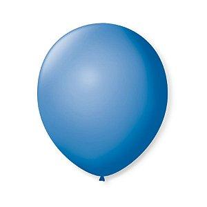 Balão de Festa Latex 9'' 23cm - Azul Turquesa - 50 unidades - São Roque - Rizzo Festas