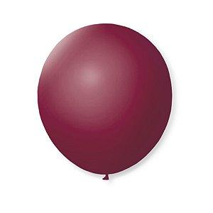 Balão de Festa Latex 9'' 23cm - Bordo - 50 unidades - São Roque - Rizzo Festas