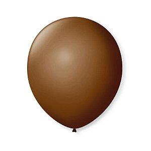 Balão de Festa Latex 9'' 23cm - Café Brasil - 50 unidades - São Roque - Rizzo Festas