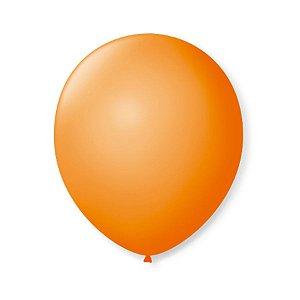 Balão de Festa Latex 9'' 23cm - Laranja Mandarim - 50 unidades - São Roque - Rizzo Festas