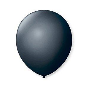 Balão de Festa Latex 9'' 23cm - Preto Ébano - 50 unidades - São Roque - Rizzo Festas