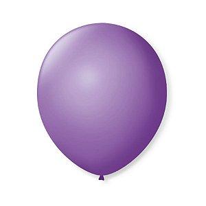 Balão de Festa Latex 9'' 23cm - Roxo Ametista - 50 unidades - São Roque - Rizzo Festas