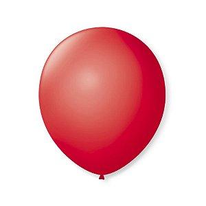 Balão de Festa Latex 9'' 23cm - Vermelho Rubi - 50 unidades - São Roque - Rizzo Festas