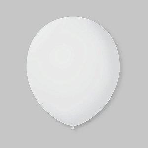 Balão de Festa Latex 9'' 23cm - Transparente - 50 unidades - São Roque - Rizzo Festas