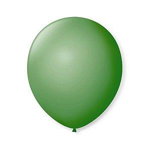 Balão de Festa Latex 9'' 23cm - Verde Bandeira - 50 unidades - São Roque - Rizzo Festas
