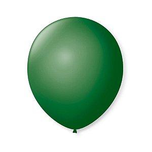 Balão de Festa Latex 9'' 23cm - Verde Folha - 50 unidades - São Roque - Rizzo Festas