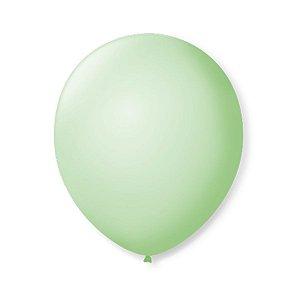 Balão de Festa Latex 9'' 23cm - Verde Hortelâ - 50 unidades - São Roque - Rizzo Festas