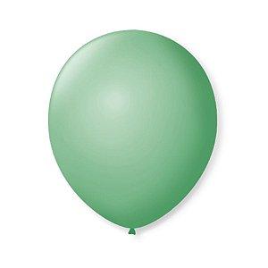 Balão de Festa Latex 9'' 23cm - Verde Lima - 50 unidades - São Roque - Rizzo Festas