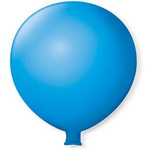 Balão Gigante em Latex 25'' 64cm - Azul Celeste - São Roque - Rizzo Festas