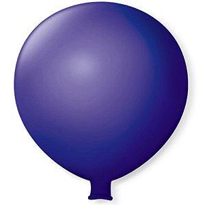 Balão Gigante em Latex 25'' 64cm - Azul Cobalto - São Roque - Rizzo Festas