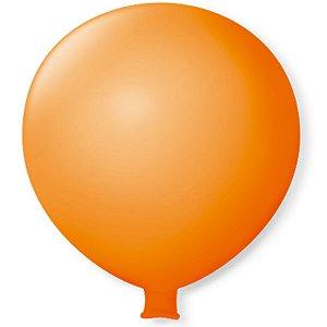 Balão Gigante em Latex 25'' 64cm - Laranja - São Roque - Rizzo Festas