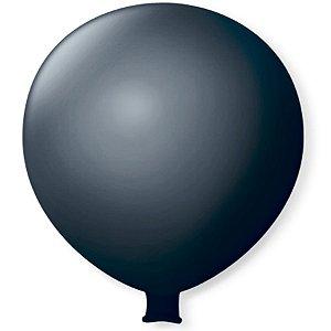 Balão Gigante em Latex 25'' 64cm - Preto Ébano - São Roque - Rizzo Festas