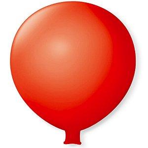 Balão Gigante em Latex 25'' 64cm - Vermelho Quente - São Roque - Rizzo Festas