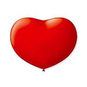 Balão de Coração em Latex 6'' 15cm - Vermelho Quente - 50 unidades - São Roque - Rizzo Festas