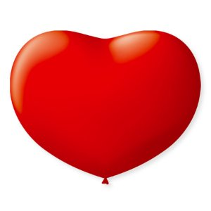 Balão de Coração em Latex 11'' 28cm - Vermelho Quente - 20 unidades - São Roque - Rizzo Festas