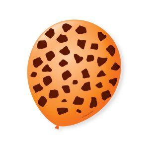 Balão de Festa Safari Girafa 9'' 23cm - 25 unidades - São Roque - Rizzo Festas