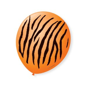 Balão de Festa Safari Tigre 9'' 23cm - 25 unidades - São Roque - Rizzo Festas