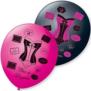 Balão de Festa Chá de Lingerie 9'' 23cm - 25 unidades - São Roque - Rizzo Festas