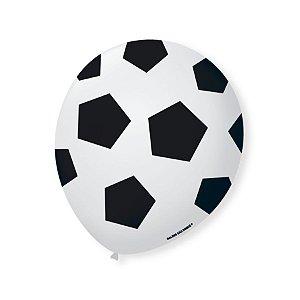 Balão de Festa Futebol 9'' 23cm - 25 unidades - São Roque - Rizzo Festas