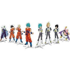 Decoração de Mesa Festa Dragon Ball - 8 unidades - Festcolor - Rizzo Festas