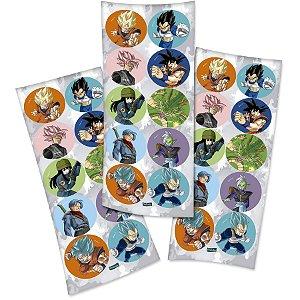 Adesivo Redondo para Lembrancinha Festa Dragon Ball - 30 unidades - Festcolor - Rizzo Festas