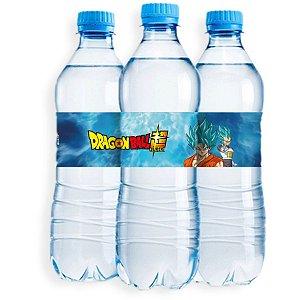 Adesivo Rótulo de Água Festa Dragon Ball - 6 unidades - Festcolor - Rizzo Festas