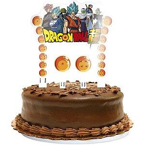 Topper para Bolo Festa Dragon Ball - 3 itens - Festcolor - Rizzo Festas