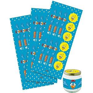 Adesivo para Lembrancinha Festa Galinha Pintadinha - 36 unidades - Festcolor - Rizzo Festas