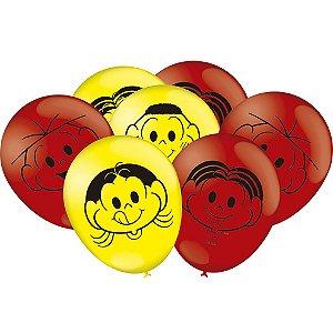 Balão Festa Turma da Mônica - 25 unidades - Festcolor - Rizzo Festas