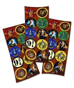Adesivo Redondo para Lembrancinha Festa Harry Potter - 30 unidades - Festcolor - Rizzo Festas