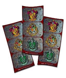 Adesivo Retangular Festa Harry Potter - 12 unidades - Festcolor - Rizzo Festas