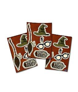 Adesivo Especial Festa Harry Potter - 4 Cartelas - Festcolor - Rizzo Festas