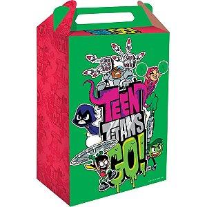Caixa Surpresa Festa Jovens Titãs - 8 unidades - Festcolor - Rizzo Festas