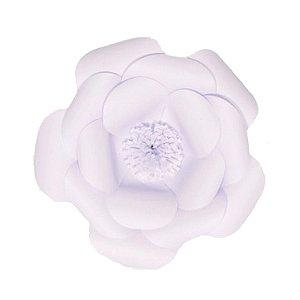Flor de Papel Decoração Festa - Camélia 27cm PP Branca - Decora Doces - Rizzo Festas