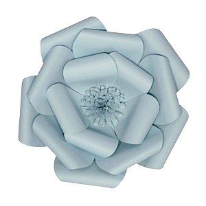 Flor de Papel Decoração Festa - Camélia 32cm P Azul Claro - Decora Doces - Rizzo Festas