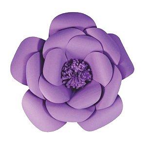 Flor de Papel Decoração Festa - Camélia 32cm P Lilás - Decora Doces - Rizzo Festas