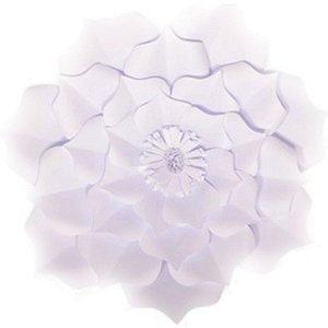 Flor de Papel Decoração Festa - Flor do Campo 39cm M Branca - Decora Doces - Rizzo Festas