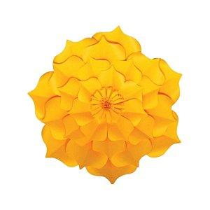 Flor de Papel Decoração Festa - Flor do Campo 27cm PP Amarela - Decora Doces - Rizzo Festas