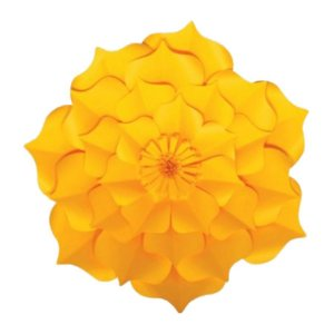 Flor de Papel Decoração Festa - Flor do Campo 32cm P Amarela - Decora Doces - Rizzo Festas