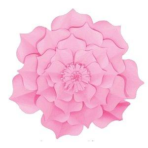 Flor de Papel Decoração Festa - Flor do Campo 32cm P Rosa Claro - Decora Doces - Rizzo Festas