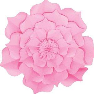Flor de Papel Decoração Festa - Flor do Campo 39cm M Rosa Claro - Decora Doces - Rizzo Festas