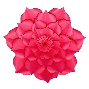 Flor de Papel Decoração Festa - Flor do Campo 32cm P Rosa Pink - Decora Doces - Rizzo Festas