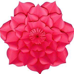 Flor de Papel Decoração Festa - Flor do Campo 39cm M Rosa Pink - Decora Doces - Rizzo Festas