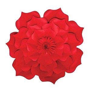 Flor de Papel Decoração Festa - Flor do Campo 32cm P Vermelha - Decora Doces - Rizzo Festas