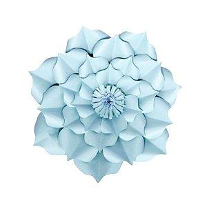 Flor de Papel Decoração Festa - Flor do Campo 27cm PP Azul Claro - Decora Doces - Rizzo Festas