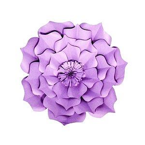 Flor de Papel Decoração Festa - Flor do Campo 27cm PP Lilás - Decora Doces - Rizzo Festas